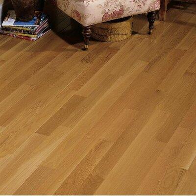 Waltham Random Width Solid Oak Hardwood Flooring in Brass