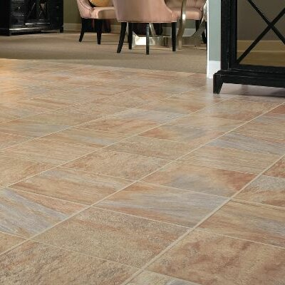 GardenStone 12 x 48 x 8mm Tile Laminate Flooring in Monzone