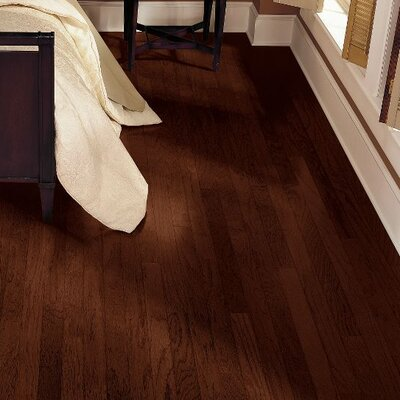 Turlington 5 Engineered Hickory Hardwood Flooring in Molasses