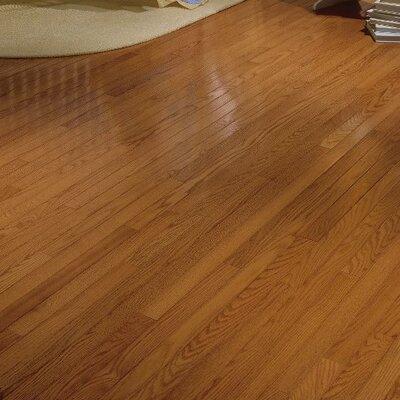 Waltham Strip 2-1/4 Solid Oak Hardwood Flooring in Brass