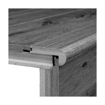 0.75 x 3.13 x 78 White Oak Stair Nose in Merlot