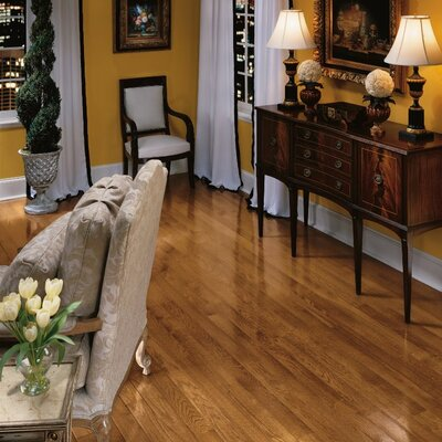 Bristol 3-1/4 Solid Red / White Oak Hardwood Flooring in Gunstock