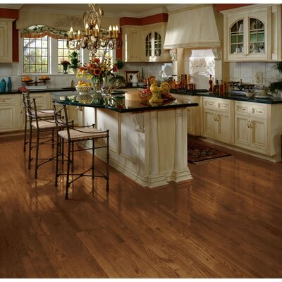 Bristol 2-1/4 Solid Red / White Oak Hardwood Flooring in Saddle