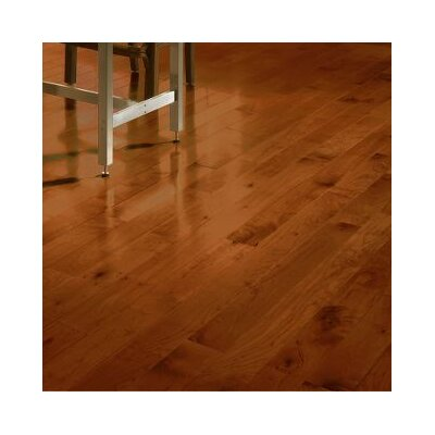 Random Width Solid Maple Hardwood Flooring in Cherry