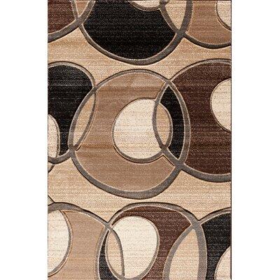 Huber Beige/Brown Area Rug Rug Size: 5 x 76
