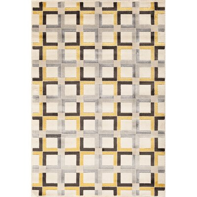 Suffolk Grey/Yellow Area Rug Rug Size: Rectangle 5 x 76