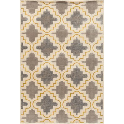 Suffolk Grey/Yellow Area Rug Rug Size: Rectangle 710 x 910