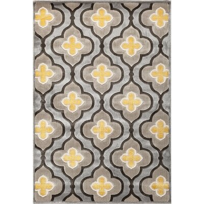 Suffolk Silver/Charcoal Area Rug Rug Size: 710 x 910