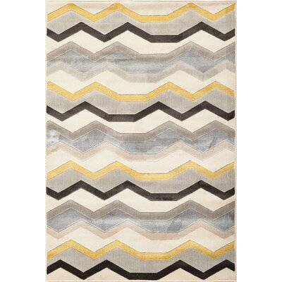 Suffolk Beige/Grey Area Rug Rug Size: Rectangle 5 x 76