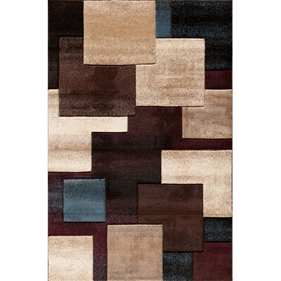 Badgett Black Area Rug Rug Size: 710 x 910
