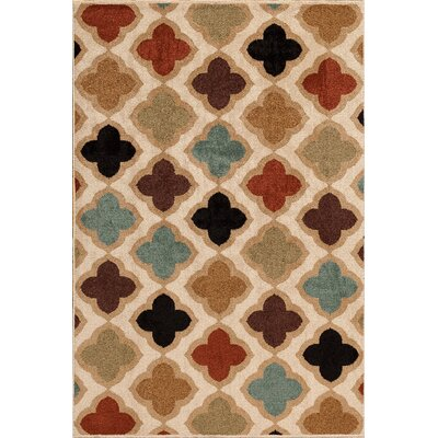 Darcy Bone Indoor/Outdoor Area Rug Rug Size: 5 x 73
