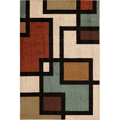 Darcy Beige Indoor/Outdoor Area Rug Rug Size: Rectangle 5 x 73
