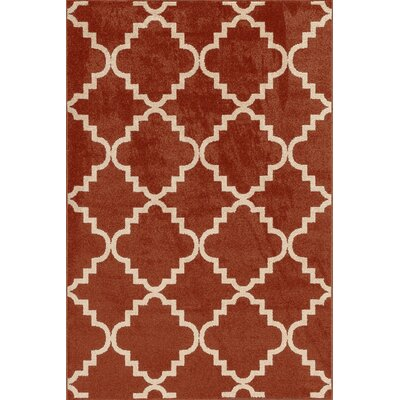 Darcy Red Indoor/Outdoor Area Rug Rug Size: 710 x 910
