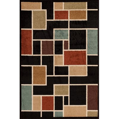 Darcy Onyx Indoor/Outdoor Area Rug Rug Size: Rectangle 5 x 73