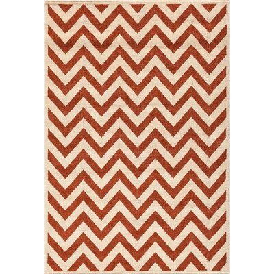 Darcy Bone/Clay Indoor/Outdoor Area Rug Rug Size: 67 x 96
