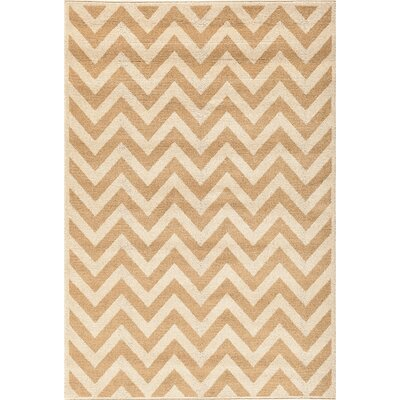 Darcy Bone/Sand Indoor/Outdoor Area Rug Rug Size: 67 x 96