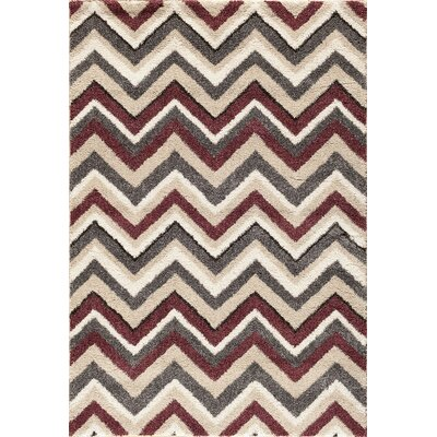Delaney Beige/Red Area Rug Rug Size: Rectangle 710 x 910