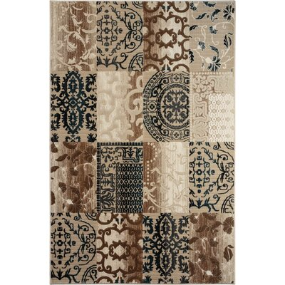 McGregor Brown/Beige Area Rug Rug Size: 53 x 77