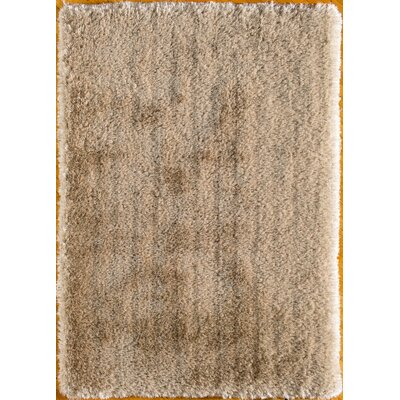 Hand-Tufted Gold Area Rug Rug Size: Rectangle 76 x 96