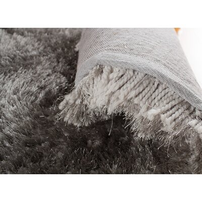 Hand-Tufted Gray Area Rug Rug Size: Rectangle 76 x 96