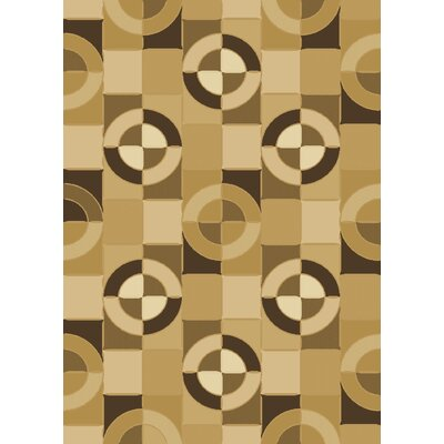 Dimensions Connections Beige / Black Contemporary Rug Rug Size: 53 x 77