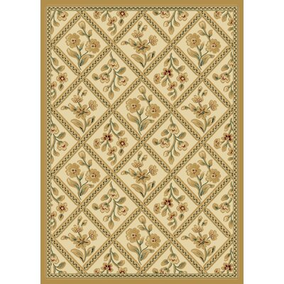 Transitional Dimensions Baylor Ivory / Wheat Rug Rug Size: 53 x 77