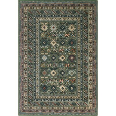 Images Geometric Seagreen Area Rug Rug Size: Runner 23 x 77