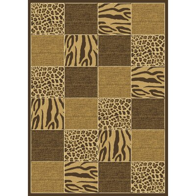 "Radiance Skins Safari Brown Rug Rug Size: 7'10"" x 10'10"