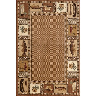 Lodge Renaissance Okena Area Rug Rug Size: Rectangle 5 x 76