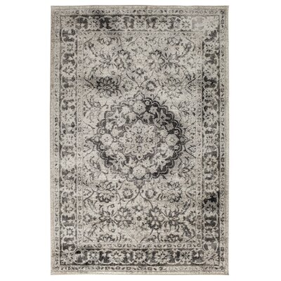 Gainesville White/Sterling Gray Area Rug Rug Size: 710 x 910