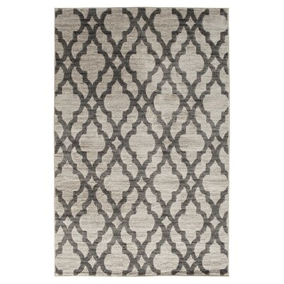 Keynsham Birch White/Sterling Gray Area Rug Rug Size: Rectangle 6'6