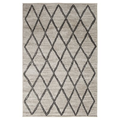 Essonnes White/Castle Gray Area Rug Rug Size: 710 x 910