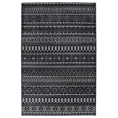 Tyesha Indigo Sterling Gray/Birch White Area Rug Rug Size: 710 x 910