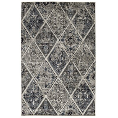 Marilyn Blue/Gray Area Rug Rug Size: Rectangle 5 x 76