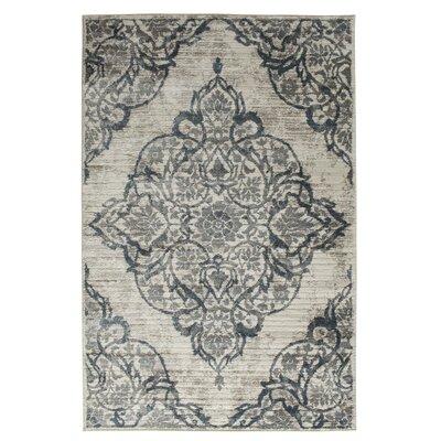 Erondelle White/Sterling Gray Area Rug Rug Size: 710 x 910