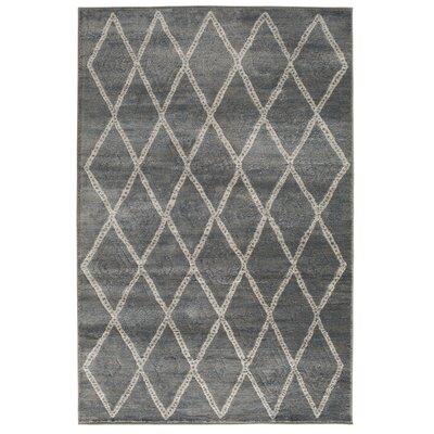 Essonnes Sterling Gray/Mist Blue Area Rug Rug Size: 5 x 76