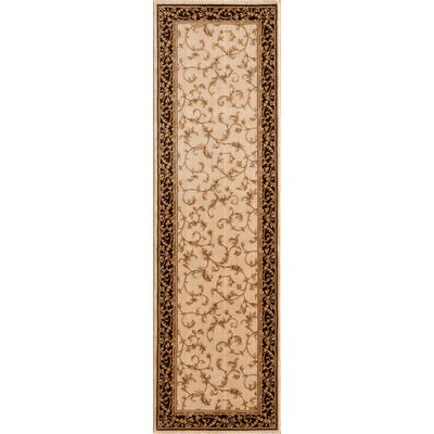Derika  Wheat Area Rug Rug Size: Runner 23 x 77