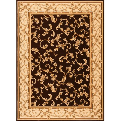 Catlaina  Brown Area Rug Rug Size: Rectangle 53 x 77