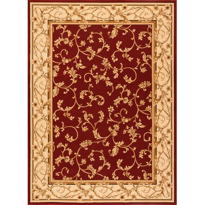 Chellsie Crimson/Wheat Area Rug Rug Size: Rectangle 3'3