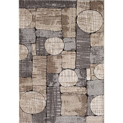 Chantel Gray/Taupe/Cream Area Rug Rug Size: 5 x 73