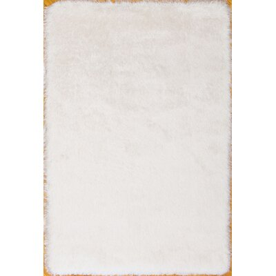 Somerville Hand-Tufted White Area Rug Rug Size: 76 x 96