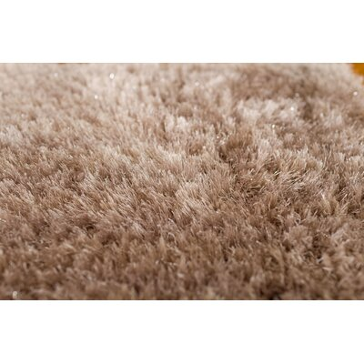 Somerville Hand-Tufted Champagne Beige Area Rug Rug Size: 76 x 96