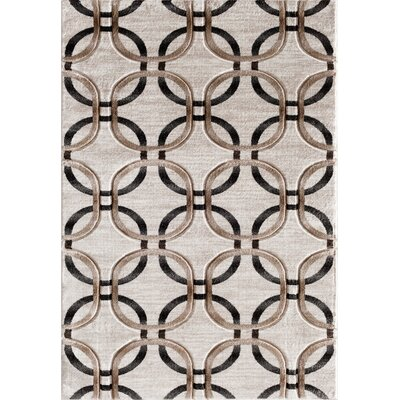 Charmaine Hand Carved Cream Area Rug Rug Size: 710 x 910