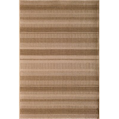 Annica Large Stripe Beige Indoor/Outdoor Area Rug Rug Size: 53 x 77