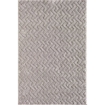 Shorewood Jigsaw Cloud Gray Area Rug Rug Size: 5 x 76