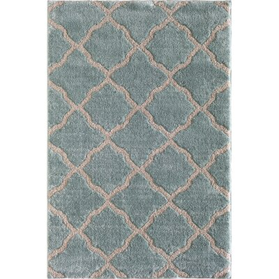 Pipestone Beach Glass/Beige Area Rug Rug Size: 5 x 76