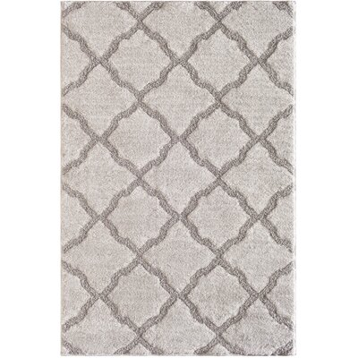Zoee Cloud Gray Area Rug Rug Size: 710 x 910