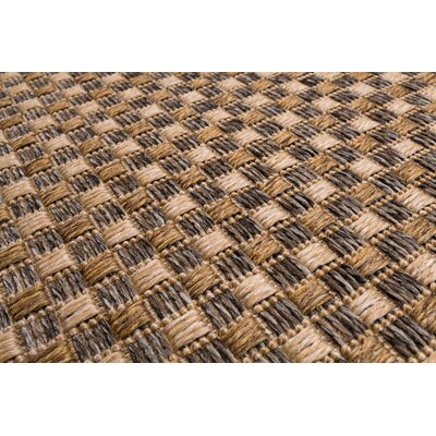 Annica Weave Beige Indoor/Outdoor Area Rug Rug Size: 53 x 77