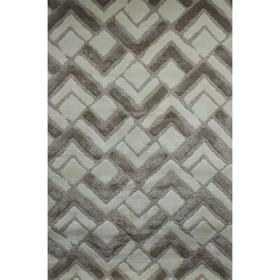 Cali White/Parchment Beige Area Rug Rug Size: 710 x 910
