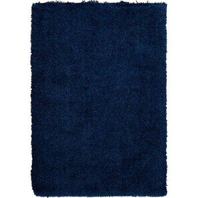 Maryam Shag Navy Blue Area Rug Rug Size: 710 x 910
